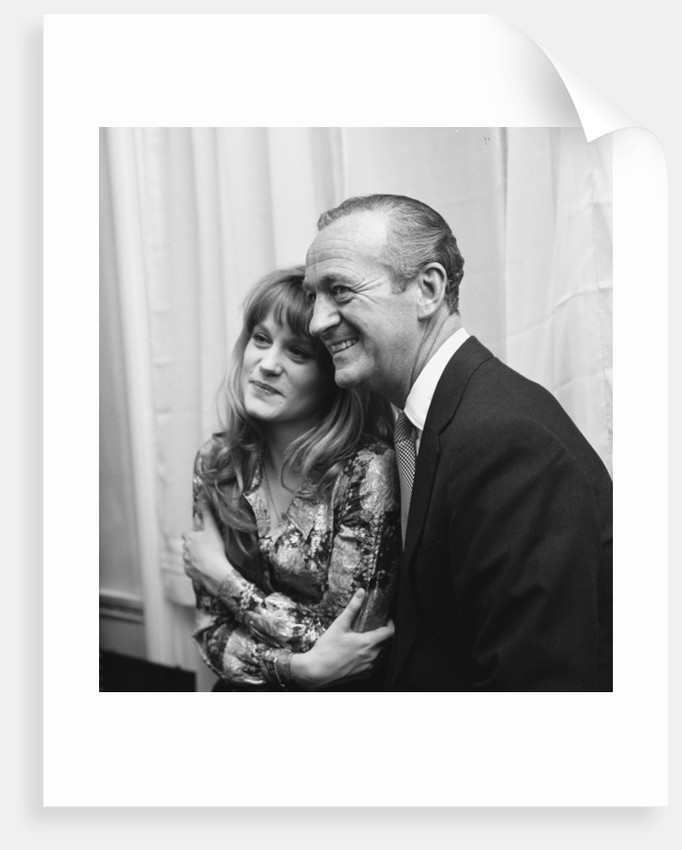 David Niven with Francoise Dorleac by Harry Arnold