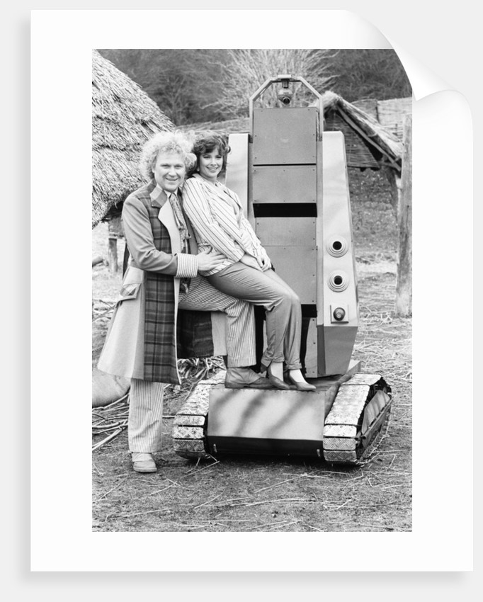 Colin Baker as the sixth Doctor with Nicola Bryant by Anonymous