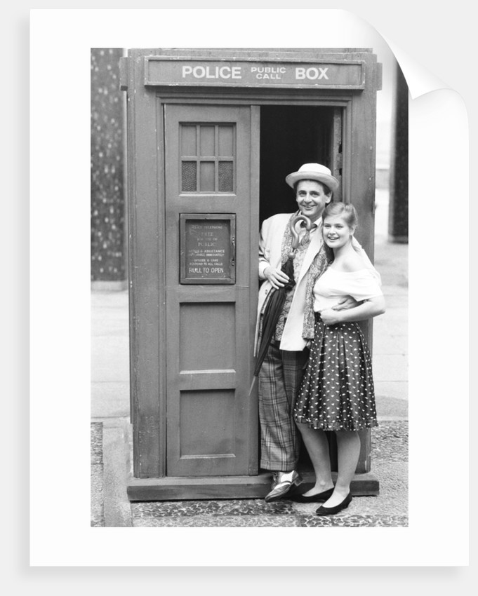 Dr Who Sylvester McCoy with Sophie Aldred as Ace his assistant by Anonymous