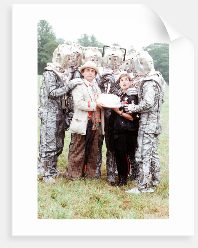 Sylvester McCoy as the Doctor and Sophie Aldred as Ace by Anonymous