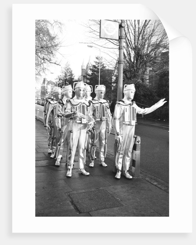 Cybermen take a break from filming by Anonymous