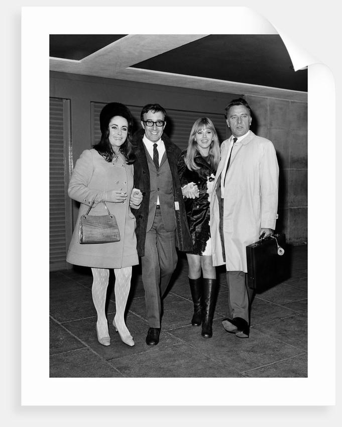 Elizabeth Taylor, Peter Sellers, Britt Ekland and Richard Burton by Anonymous
