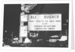 Neon sign on the strip in Las Vegas advertising the Muhammad Ali - Joe Bugner fight by Monte Fresco