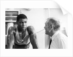 Frank Bruno with his trainer by Anonymous