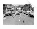 John Conteh celebrates after winning both British and European Commonwealth titles by Fresco Monte