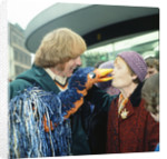 Rod Hull and his feathered puppet emu by Staff