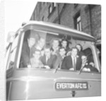 Everton players leave for Sunderland by Charlie Owens