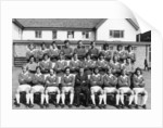 Everton football team pose for a pre season squad photograph by Anonymous