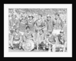 Everton football team pose with the Charity Shield by Albert Cooper