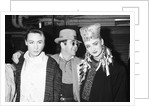 Boy George with with friend Marilyn and Elton John by Will Dyson