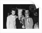 Boy George with Paul Young and Elton John by Will Dyson