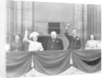 Winston Churchill joins the Royal Family on the balcony at Buckingham Palace on VE Day by Anonymous