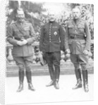 HM King George V, General Ferdinand Foch and Sir Douglas Haig by Ernest Brooks