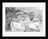 Emlyn Hughes with Kenny Sanson and Laurie Cunningham by Monte Fresco
