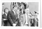 Bill Shankly Liverpool manager on Liverpool team homecoming 1971 by Staff