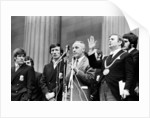 Bill Shankly Liverpool manager on Liverpool team homecoming 1971 by Daily Mirror