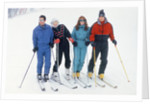 Prince Charles, Princess Diana, The Duchess of York Sarah Ferguson and The Duke of York Prince Andrew on skiing Holiday in Klosters. by Kent Gavin