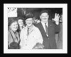 Stan laurel and Oliver hardy outside Coventry station August 1947. by Staff
