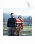 Prince Charles and Lady Diana Spencer vacationing at Balmoral in May 1981 during their engagement. by MSI