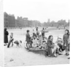 Liverpool children playing in a WW2 bomb site, 1954 by Turner