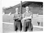 Members of Charlton Athletic Football Club, M Wilkinson and George Tadman by Reg Sayers