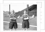 Members of Charlton Athletic Football Club, J A S Oakes and Les Boulter. by Reg Sayers