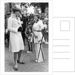 The Princess Royal meets Drum Majorette Sylvia Moran, of the Washington Grey's Jazz Band. by Staff