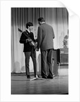 The Beatles at The Prince of Wales Theatre in London, rehearsing for the next days The Royal Variety Command Performance. November 1963. by Illingworth