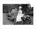 Dick Van Dyke and Sally Ann Howes with Chitty Chitty Bang Bang by Victor Crawshaw