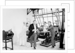 Dick Van Dyke, Sally Ann Howes and Peter Ustinov filming a scene for Chitty Chitty Bang Bang by Bela Zola