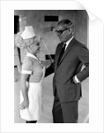 Barbara Windsor and producer Peter Rogers on the film set of Carry On Doctor. by Staff