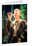 David Bowie performing at The Big Twix Mix concert at The Birmingham NEC. by Staff