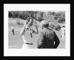 England manager Ron Greenwood talks to Franz Beckenbauer, 1982 World Cup Finals in Spain by Monte Fresco