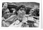 Argentina footballer Diego Maradona, 1986 World Cup Finals in Mexico by Monte Fresco
