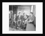 Sunderland footballers Stan Anderson, Brian Clough, Eddie Waring and Charlie Hurley by Anonymous