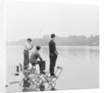 Boys fishing on the Serpentine in London's Hyde Park by Anonymous