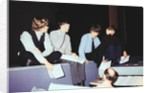"""The Beatles rehearsing at London palladium for """"Night of 100 stars"""" by Staff"""