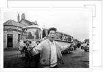 Cliff Richard with his tour bus by Anonymous
