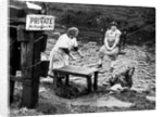 A trolley 'chair' being used by residents to cross the River Cart, Glasgow by Anonymous