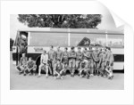 The England squad stand next to their coach as they relax at Hendon Hall Hotel by Anonymous