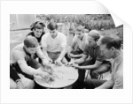 England players enjoy a game of cards at their base in Hendon during the 1966 World Cup tournament by Staff