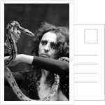 Alice Cooper with his pet boa constrictor by Anonymous