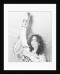 Alice Cooper poses with his snake by Peter Stone