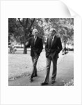 Henry Fonda and James Stewart walking through Grosvenor Square by Anonymous