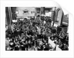 Busy scenes showing crowds of traders in a hurry at the London Stock Exchange by Reed