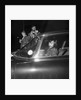 George Best arriving at Wilmslow station in his Jaguar to meet Carolyn Moore by Staff