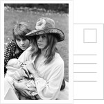 David Bowie with wife Angie and three week old son Zowie by Ron Burton