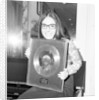 Nana Mouskouri presented with a gold disc by Maurice Kaye