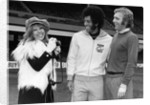 Bobby Moore enjoying a pleasant reunion with Carlos Alberto by Anonymous