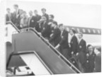 Manchester United boarding a plane at Manchester Ringway airport by Staff